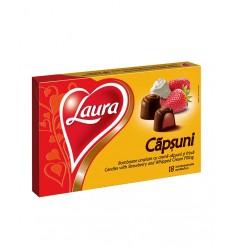 Bomboane Laura cu Crema de Capsuni